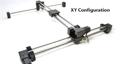 xy motor ebelt belt driven travel linear slide