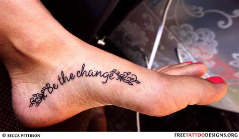 foot tattoo designs with words foot tattoos