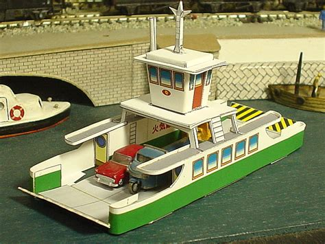 How To Make Ship Models In Paper - papermau japanese ferry boat paper model in ho scale by