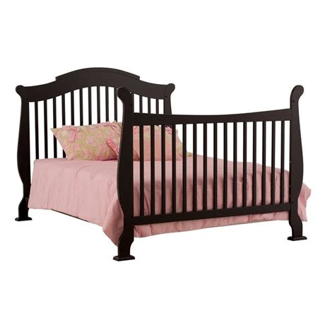 Black Convertible Cribs Stork Craft Valentia 4 In 1 Fixed Side Convertible Crib In