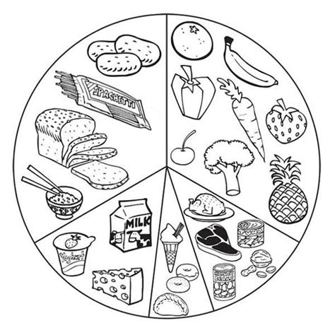 healthy color pictures healthy food coloring pages 003 jpg 600 215 601 school