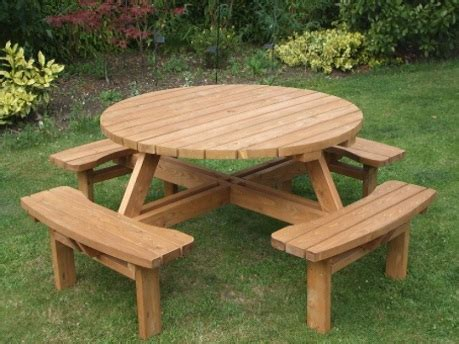 round picnic benches for sale round garden tables e timber products