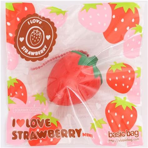 Squishy I Bloom Strawberry Replica kawaii strawberry fruit scented squishy charm by ibloom food squishy squishies kawaii