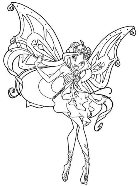 Winx Club Coloring Page Free Printable Winx Club Coloring Pages For Kids