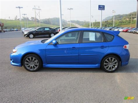 subaru wagon 2010 wr blue pearl 2010 subaru impreza wrx wagon exterior photo