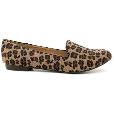 leopard loafers for womens leopard ponyskin slipper flat pumps loafers shoes