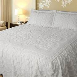 King Bedspread Lara White King Size Bedspread By Lamont Limited