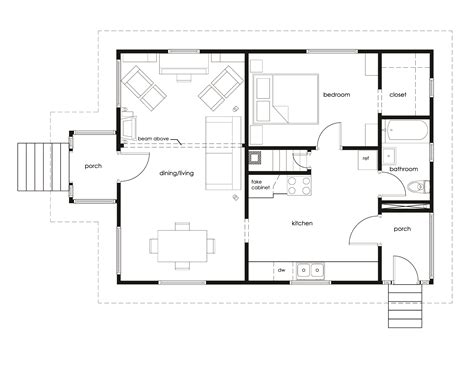 20 x 20 floor plans 20 x 20 cottage plans small home