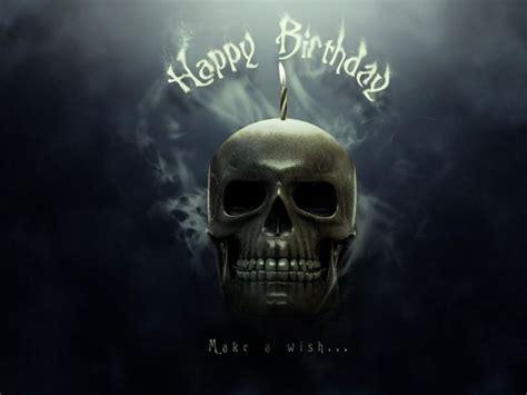 Badass Birthday Quotes Happy Metal Birthday Skull Smoke Happy Biarthday