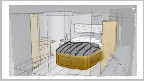 front bedroom 50ft motor yacht front bedroom render moving art