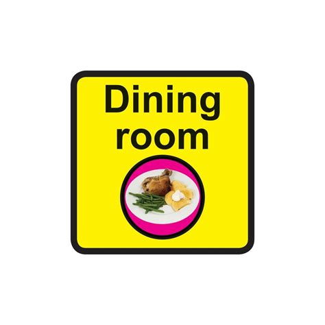 signs labels 300x300mm dining room dementia sign