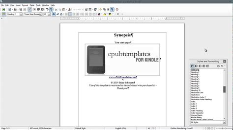 report template libreoffice epub template for libre office ebook template walkthrough