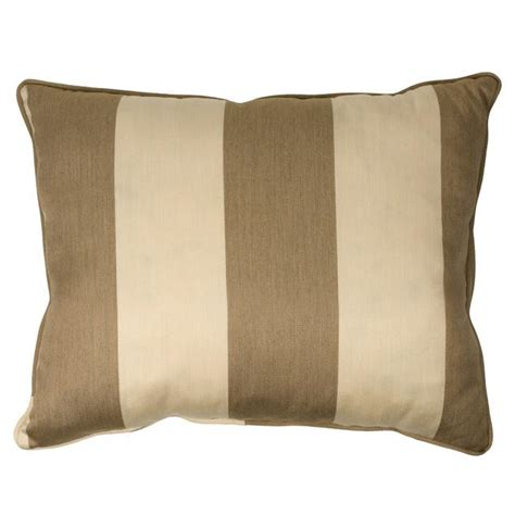 light brown canvas stripe corded outdoor pillows with