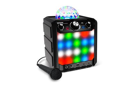 ion bluetooth speaker with lights party rocker express bluetooth speaker with light show