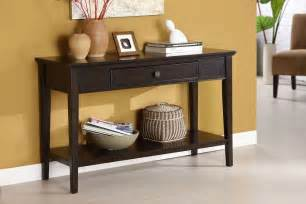 Cherry Sofa Table Middleton Cherry Solid Wood Felt Lined Drawer Sofa Table