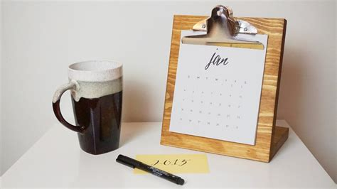 make your own desk calendar diy desk calendar