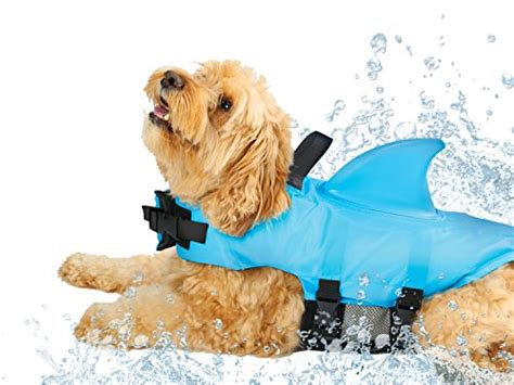 Pet Vest To Save Your Poochs Day by Swimways Sea Squirts Vest W Fin For Doggie