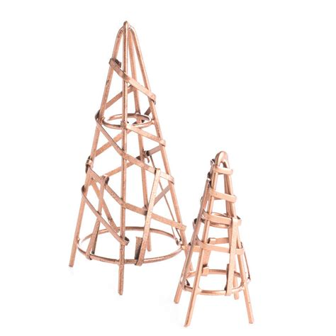 cone trellis miniature copper wire cone trellis set on sale craft