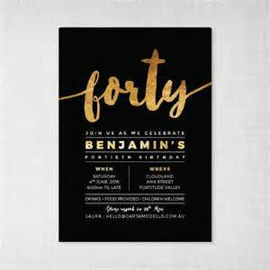 25 best ideas about 40th birthday invitations on