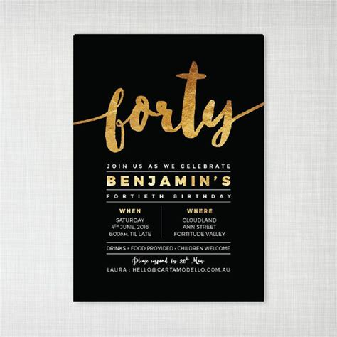 40th birthday invitation exle 40th birthday invitation beneficialholdings info