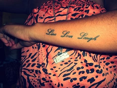 live tattoo designs live laugh wrist tattoos www pixshark images
