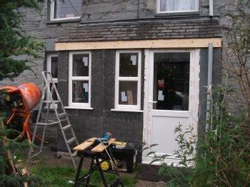 timber framed porch in cwm penmachno