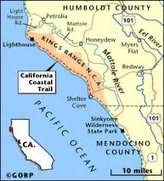 lost coast california map lost coast trail finally besthike