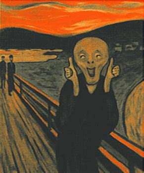 el grito de munch edvard munch scream thumbs up another item that i found