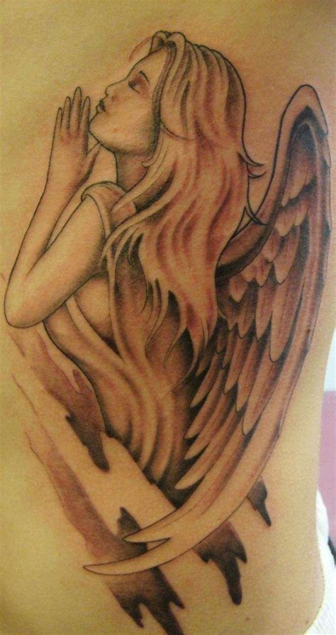angel tattoo side view guardian angel tattoos for women guardian angel đ 244 i c 225 nh