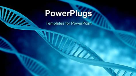 templates powerpoint dna powerpoint template a bluish background with dna