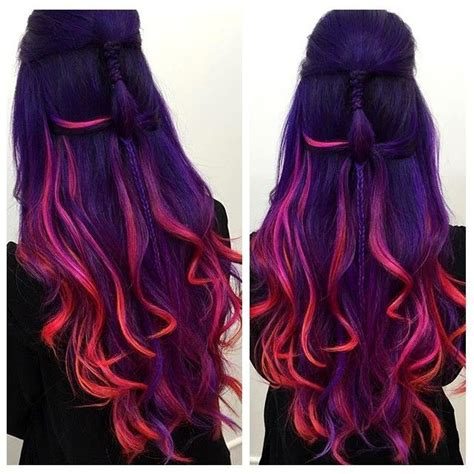 awesome hairstyles and colours 25 best ideas about peekaboo hair on pinterest peekaboo