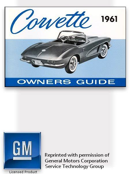 car maintenance manuals 1961 chevrolet corvette free book repair manuals 1961 chevrolet corvette owner s manual part no 3784033