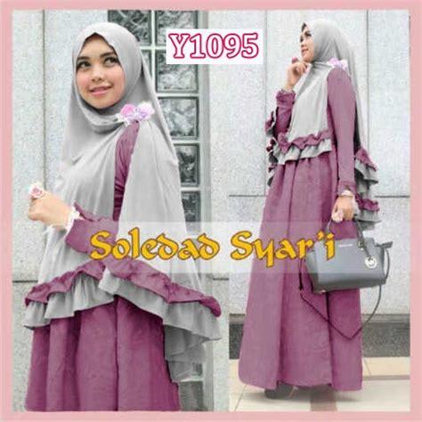 Ready Bergo Kurnia Biru Baju Muslim Wanita gamis bergo soledad syari y1095 model busana muslim