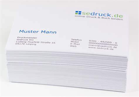 Muster Card Visitenkarten In 24h Drucken Lassen Sedruck De