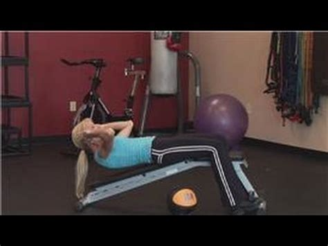 personal fitness abdominal exercises to do on an incline bench