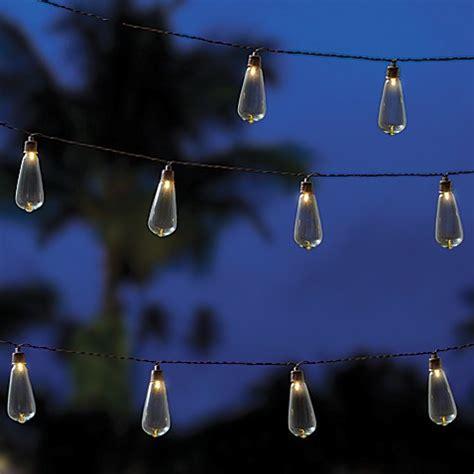 Edison Indoor Outdoor 10 Bulb String Lights In Brown Bed Bulb String Lights Indoor