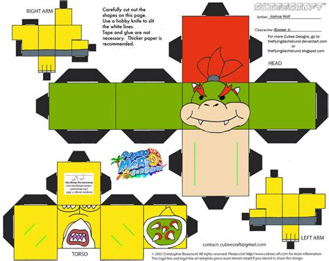 Mario Papercraft - bowser papercrafts images