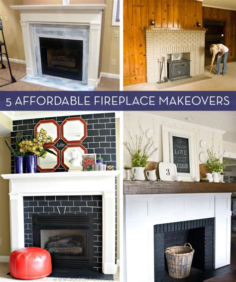 fireplace makeovers before and after before and after 5 budget friendly fireplace makeovers