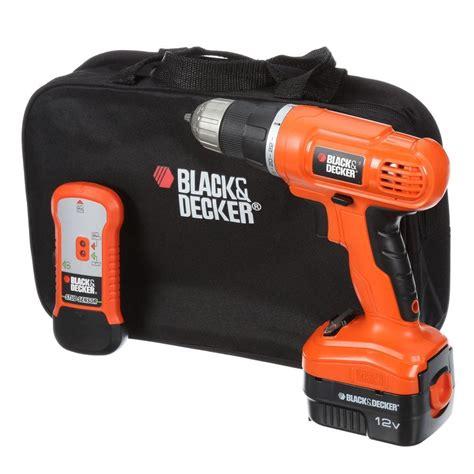 black und decker werkzeugkoffer black decker 12 volt nicd cordless drill with stud sensor