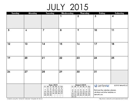 printable weekly calendar july 2015 download a free july 2015 calendar from vertex42 com