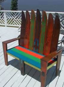 bench made out of skis vintage water ski belt water ski bench i want to make a