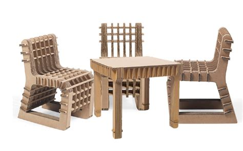 Cardboard furniture set