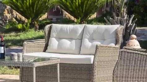 divanetti in vimini set relax con intreccio wicker catalogo deghi