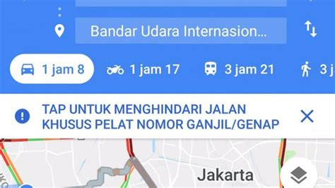 perluasan ganjil genap  asian games  google map