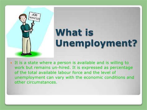what iz unemployment unemployment