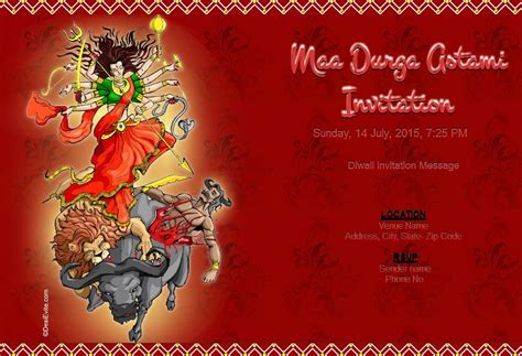 durga puja invitation card template free durga puja invitation card invitations