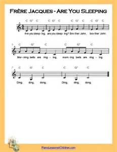 Are you sleeping lyrics videos amp free sheet music for piano