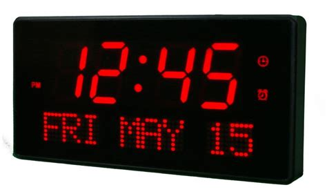 Led Desk Clock clockway 12 5in bordeaux 2 5in digit large led wall desk clock 16 alarms remote by