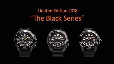Limited Editions New Black seiko srpc49k1 sne493p1 ssc673p1 the black series limited edition 2018