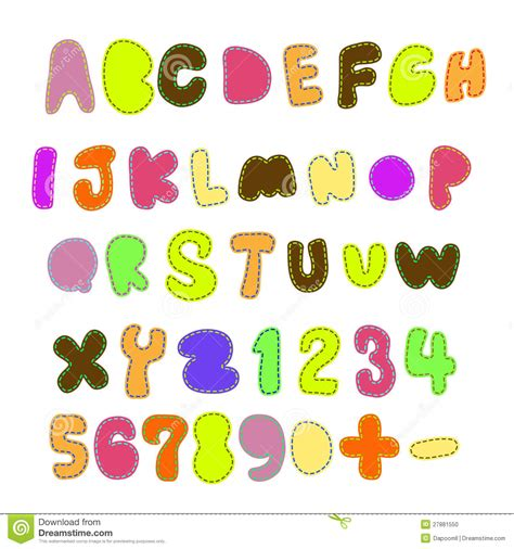 Patchwork Font - patchwork font stock photo image 27881550